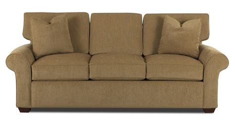 Klaussner Sleeper Sofa Klaussner Patterns Innerspring Sleeper Sofa With Rolled Arms And Wood Olinde S