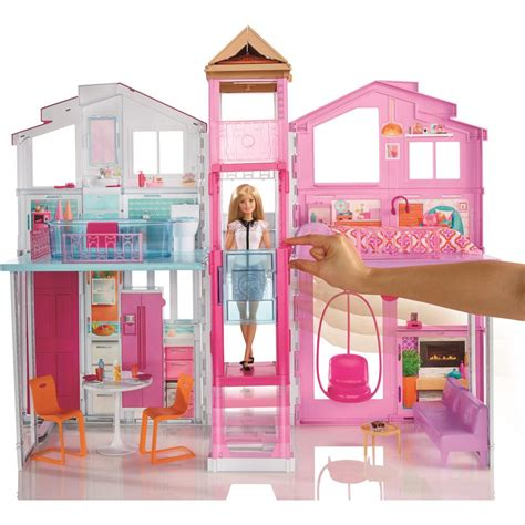 videos de casas de barbie super casa barbie real mattel 3 andares e elevador