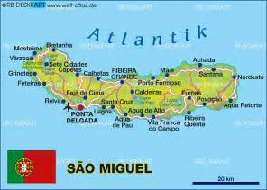 Azores World Map by Map Of Sao Miguel Azores Portugal Map In The Atlas Of