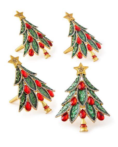 images of christmas ring kim seybert christmas tree napkin rings set of 4 neiman