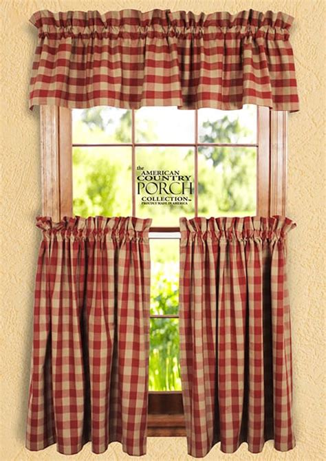 wine curtains valances wine teadyed buffalo check curtain valances