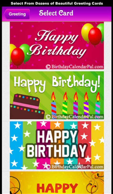 Birthday Calendar App Birthday Calendar Pal Iphone App Review Appbite