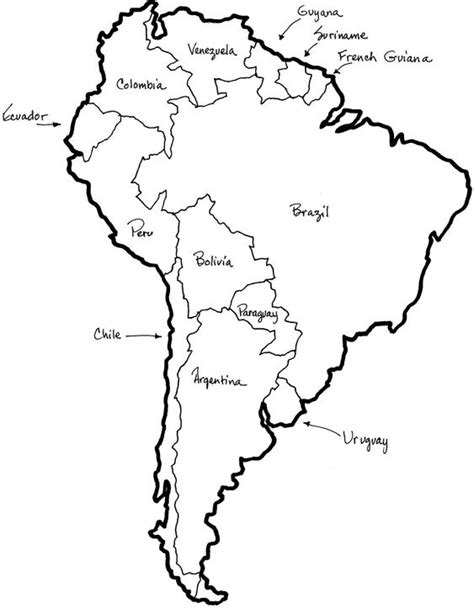 coloring map of america coloring south america and colors on