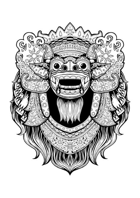 barong is bali by bayu wiguna art indonesia tattoo