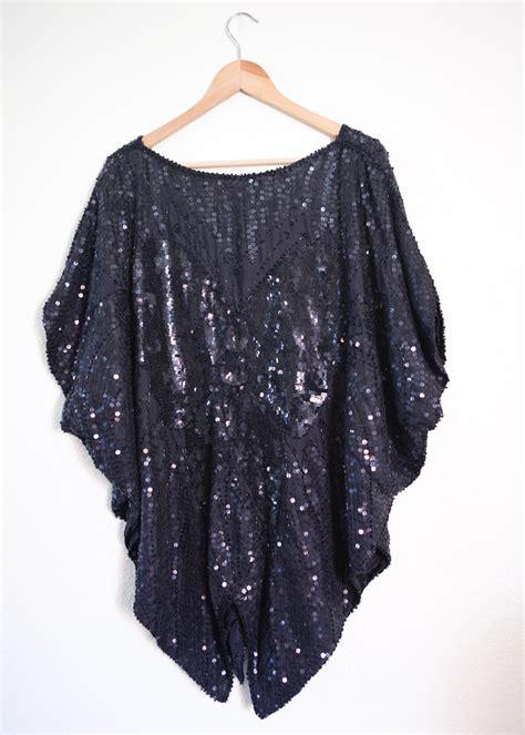 beaded blouses plus size vintage black sequin batwing beaded blouse 3x 4x