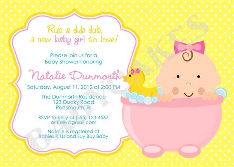 baby shower invitation card template how to plan rubber ducky baby shower ideas free