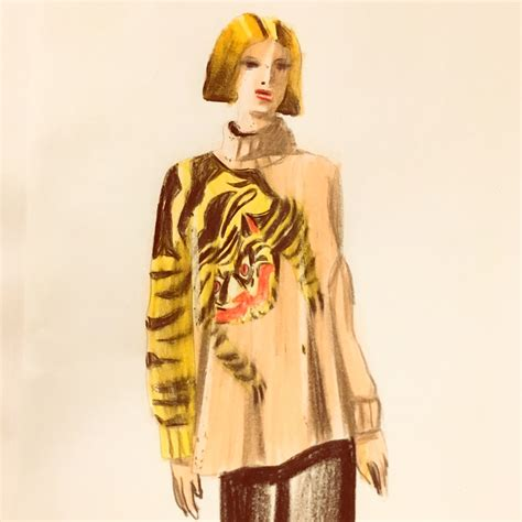 Sweater H M tiger h m sweater on behance