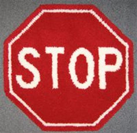 stop sign rug 1000 images about latch hook rug kits sports and on hooks smiley happy and