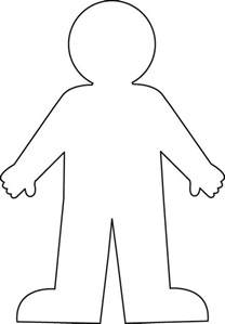cut out person template person outline printable cliparts co