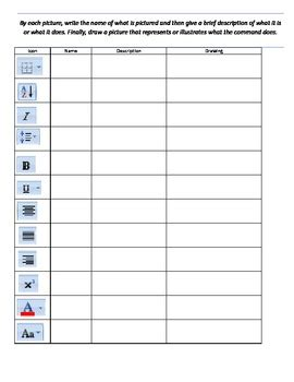 word for the wise using microsoft office word for creative writing and self publishing books microsoft word icon identification worksheet by mr antill