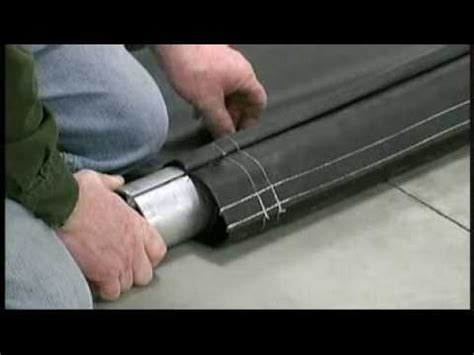How To Install Blinds Srt 2 174 Spool Roll Tarp Install Step 4 Laying Out Tarp To