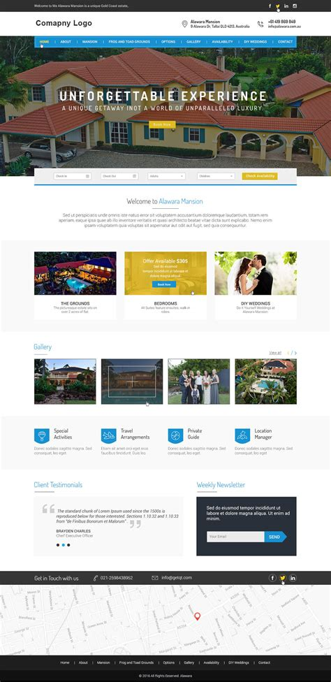 Hotel Resort Website Template Ved Web Services Resort Website Template