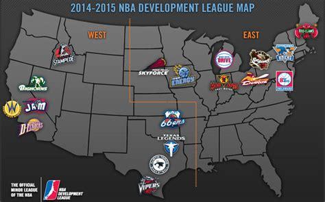 la nouvelle carte de la d league basket usa