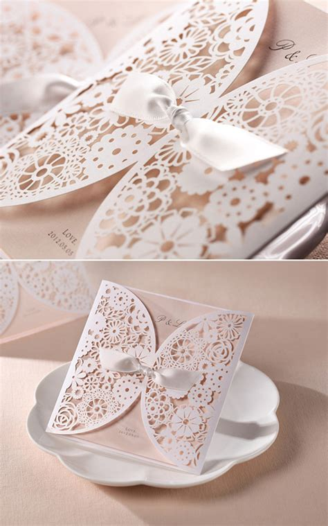 Felice Ribbon Top top 10 laser wedding invitations
