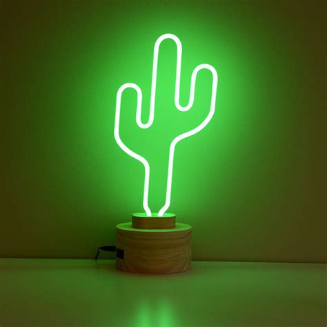 neon cactus light by home notonthehighstreet