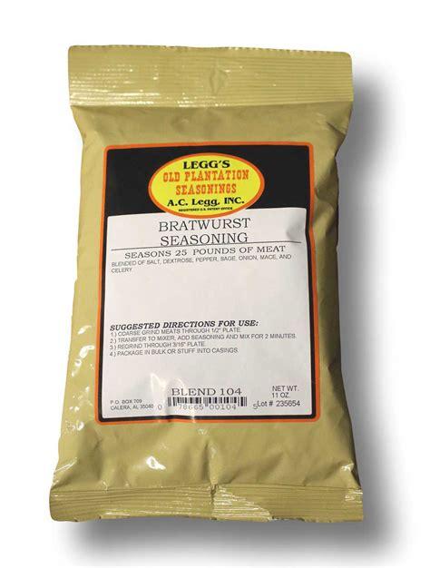 bratwurst seasoning ac legg bratwurst seasoning