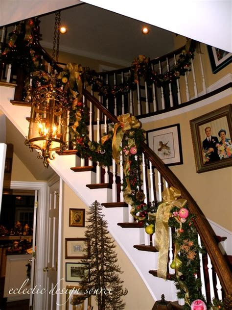 holiday decorating traditional staircase chicago
