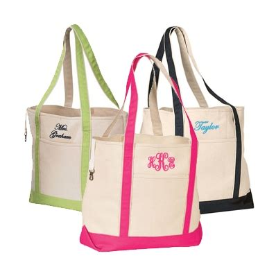 monogrammed tote bags personalized tote bags monogrammed