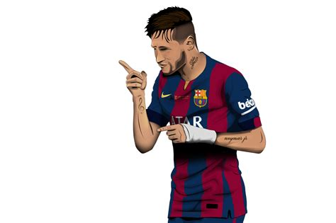 wallpaper neymar cartoon neymar jr by kamilmurattsarm on deviantart