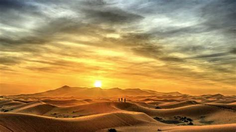 Desert Sun Rising in rabat in the mezouga desert in morocco lev 233