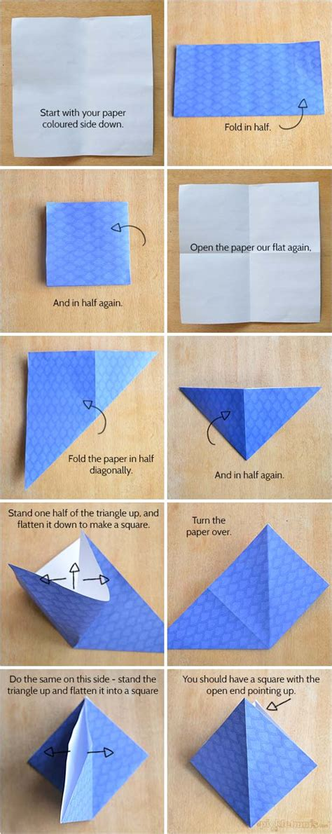 How To Make A Paper Origami Box - origami boxes with printable origami paper picklebums