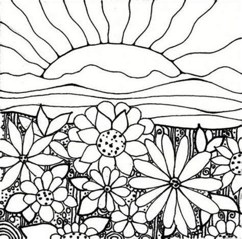 drawing of garden coloriage de fleur dessin ch de fleurs et soleil 224