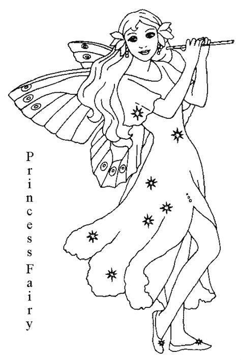 coloring pages of fairy princesses disney princess fairy coloring pages to kids