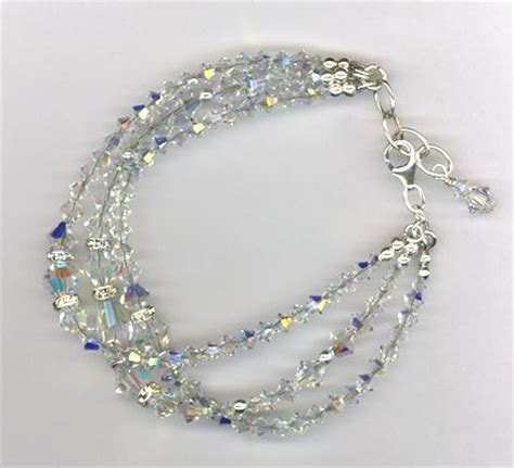 Handmade Swarovski Bracelets - handmade swarovski bridal custom bracelet by mp