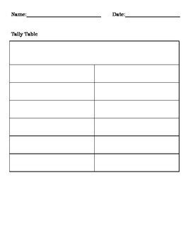 frequency table template blank graph templates tally table picture graph and