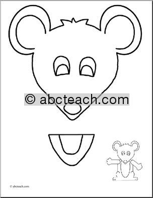 paper bag mouse puppet pattern pin by fhu learning resource library on lrl story time