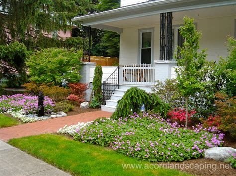Front Yard Landscape Designs Ideas Plantings Walkways Plants For Front Garden Ideas