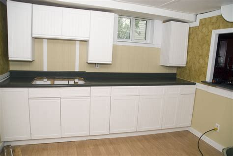 Diy Painting Kitchen Cabinets White by Melamine Cupboard And Countertop Makeover Money Or Time
