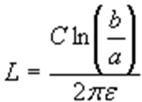cylindrical capacitor equations cylindrical capacitor design equations formulas calculator length