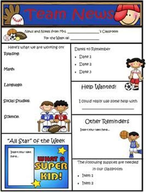 sports theme newsletter template powerpoint newsletter