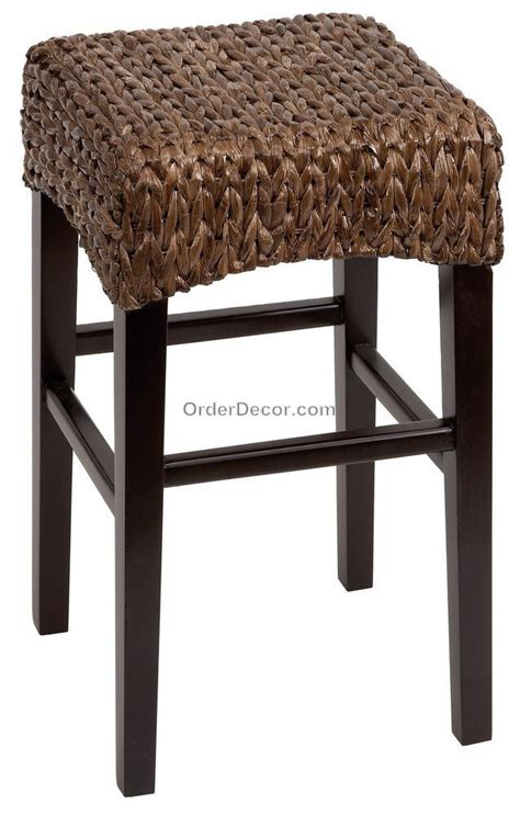 Rattan Stool 24 Quot Brown Wood Wicker Counter Bar Stool Seat