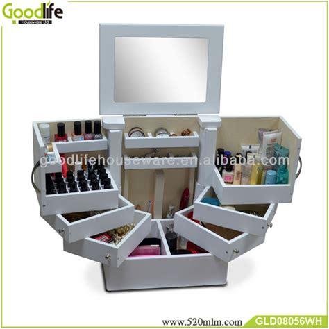 Akrilik Kosmetik Tipe I 2 wooden make up box with inside mirror from goodlife buy