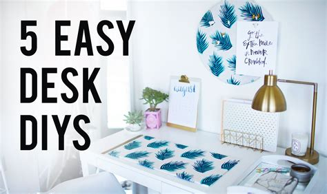desk decorations 5 easy diy desk decor organization ideas le