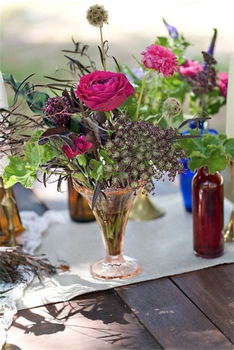 34 Bold And Eye Catching Boho Chic Wedding Centerpieces