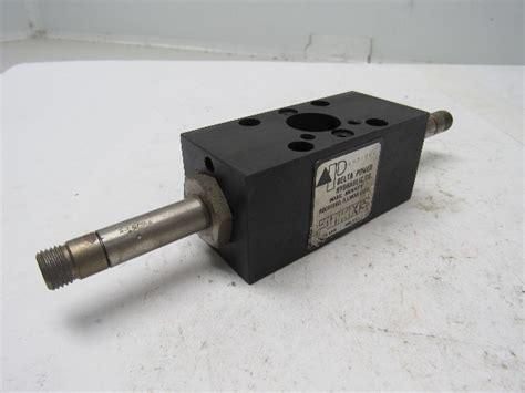 delta power hydraulic tt hydraulic solenoid valve  threaded shaft bullseye