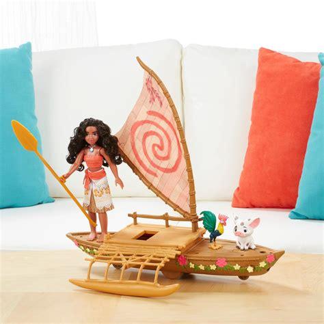 moana playset with boat moana friends starlight canoe playset toy at