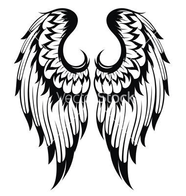 tattoo angel vector angel wings vector silhouette cameo pinterest angel