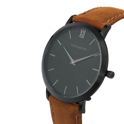 Mt185hublot Leather Stainless Black s in black pvd plated stainless steel brown leather
