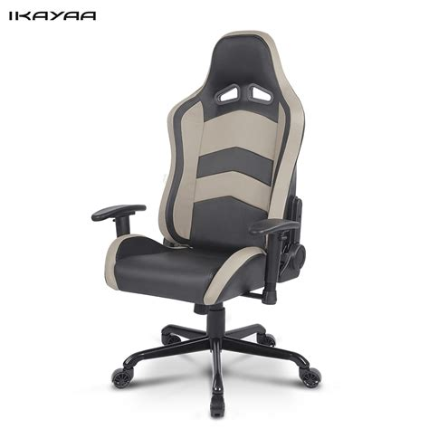 how to recline office chair ikayaa racing seat gaming office chair ergonomic computer