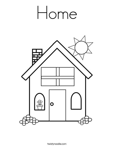 Home Coloring Page Twisty Noodle Home Coloring Page