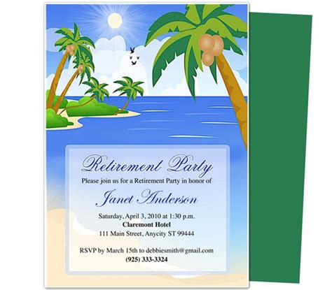 free templates for invitations mac retirement templates paradise retirement party
