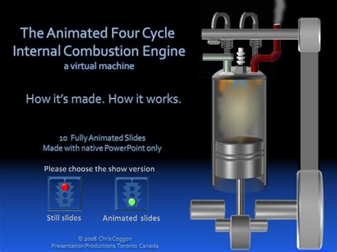 animated 4 stroke engine cycle the animated 4 cycle combustion engine