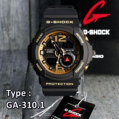 Jam Tangan G Shock Ga 310 Black List Blue Kw jual diskon murah g shock army casio ga310 black gold hitam emas jam tangan