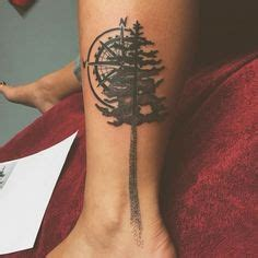 tattoo care length forrest with a compass black and gray tattoos