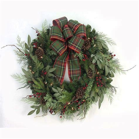 holiday wreath home accents holiday 32 in pre lit woodland tales