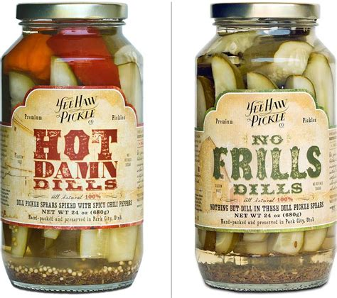 kilhaney s pickle label design on behance yee haw packaging design and company rebrand by bwp